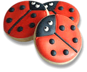 cookies with lady bug design